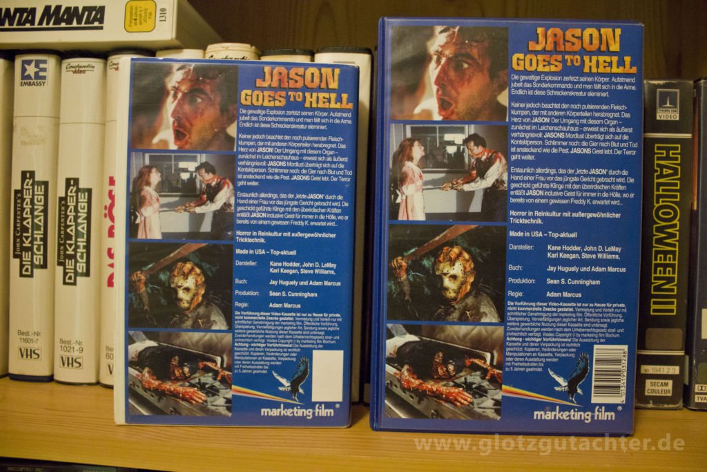 Jason goes to hell Marketing VHS Rückseite