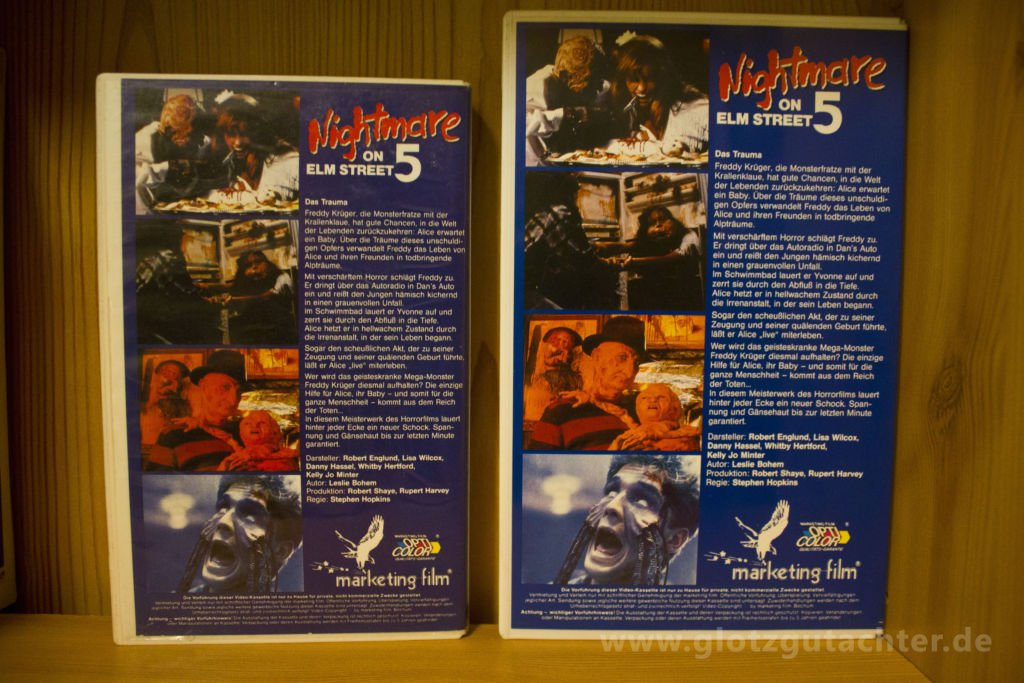 Nightmareonelmstreet5 Marketing VHS Rückseite Back