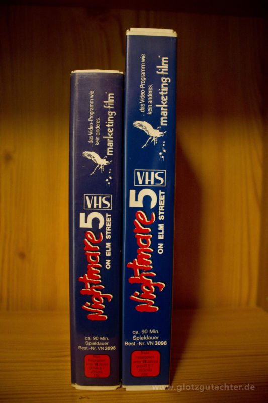 Nightmareonelmstreet5 Marketing VHS Spine