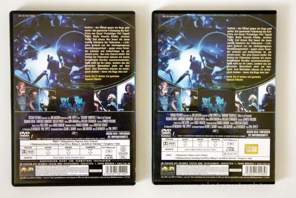 Starship Troopers 2 dvd Rückseite