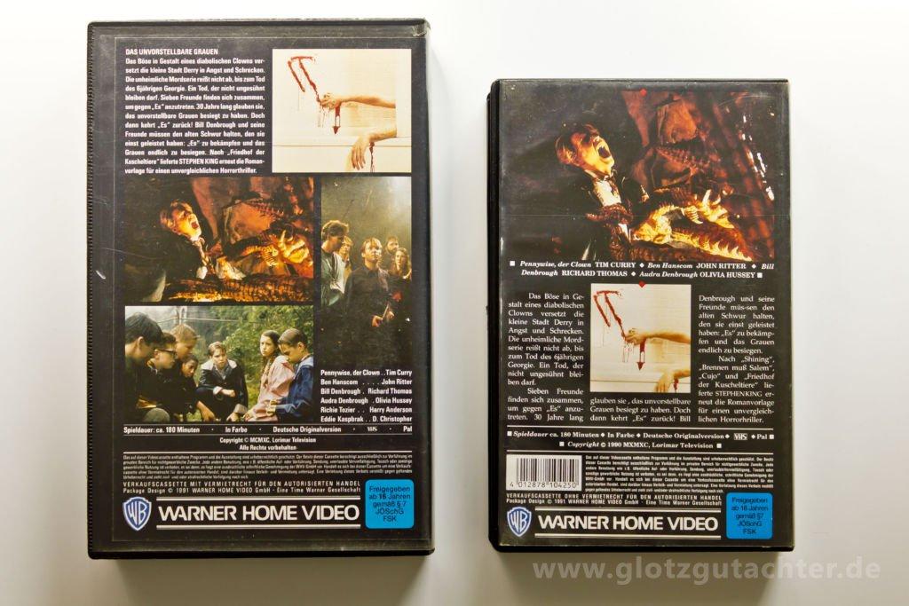 stephen King ES VHS rückseite